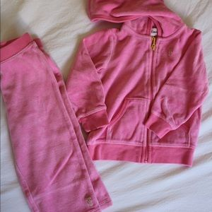 18 mo. Juicy Couture pink velour outfit